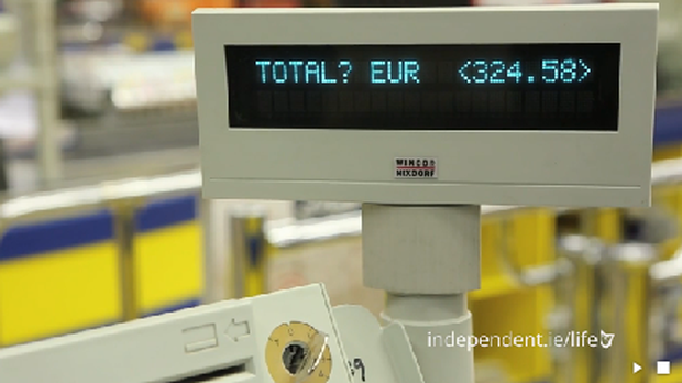 Independent.ie's trolley dash bill came to €324.58