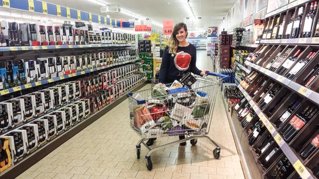 Independent.ie's Patricia Murphy tries her hand at the trolley dash for Barretstown.