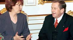 Mary McAleese and Vaclav Havel meet in Prague in November, 1999. AP Photo