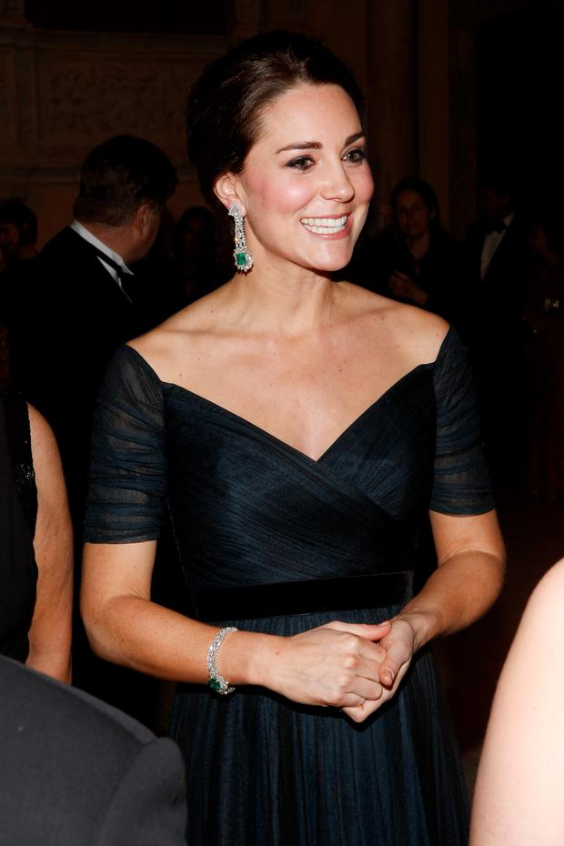 Kate Middleton attends the St. Andrews 600th Anniversary Dinner at The Metropolitan Museum of Art in New York