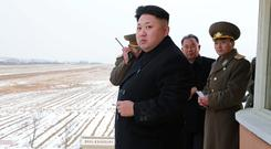 North Korea leader Kim Jong Un (REUTERS/KCNA)