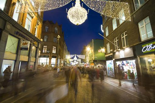 Grafton Street at Christmas.