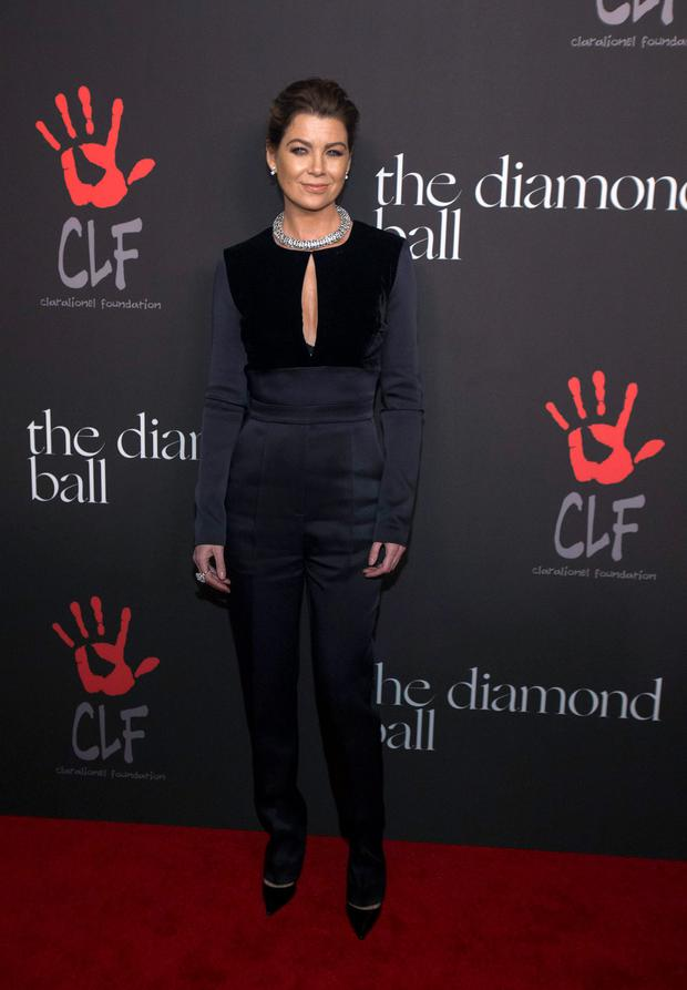 Actress Ellen Pompeo poses at the First Annual Diamond Ball fundraising event at The Vineyard in Beverly Hills