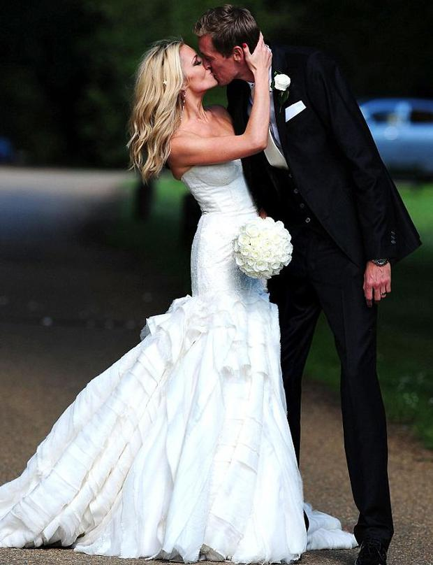 Abbey Clancy and Peter Crouch on their wedding day