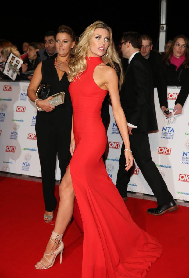 Abbey at the National Television Awards 2014.