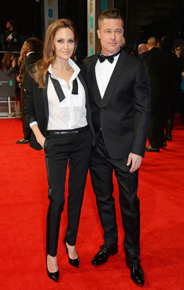 Brangelina at the 2015 BAFTAs.