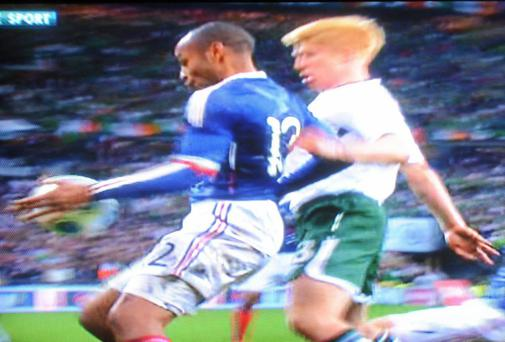 Thierry Henry handball saga Photo: RTE