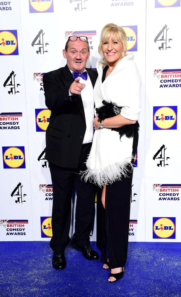 Brendan O'Carroll and his wife Jennifer Gibney attending the British Comedy Awards at the Fountain Studios in Wembley. Photo: Ian West/PA Wire