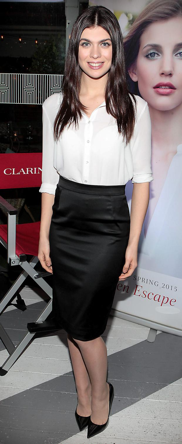 Aisling Quinn at the launch of The Clarins Garden Escape Spring Make up Collection at House Leeson Street, Dublin