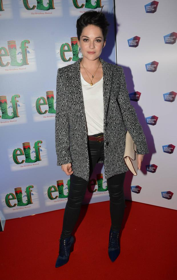 Sarah Greene at the opening night of Elf the Musica at The Bord Gais Energy Theatre