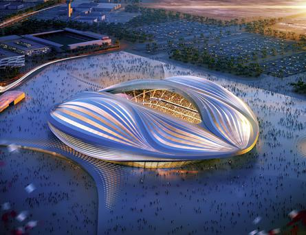 Computer image released by Qatars Supreme Committee for Delivery & Legacy shows an artist's impression of the Al Wakrah Stadium, one of several Word Cup stadiums under construction in Qatar