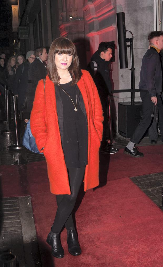 Jennifer Maguire adds a touch of colour to her maternity style.