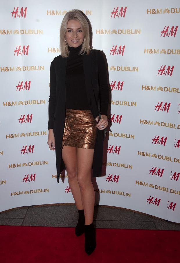 Pippa O' Connor at the opening night of H&M's flagship store in College Green,Dublin. Photo: Gareth Chaney Collins