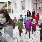 Pupils at Gaelscoil de hIde in Fermoy, Co Cork, staged a scene from hit movie Frozen last week to protest about the lack of progress on school funding. Picture:Clare Keogh