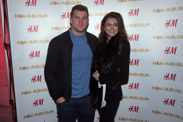 Jordi Murphy & Laura Finnegan at the opening night of H&M's flagship store in College Green,Dublin.