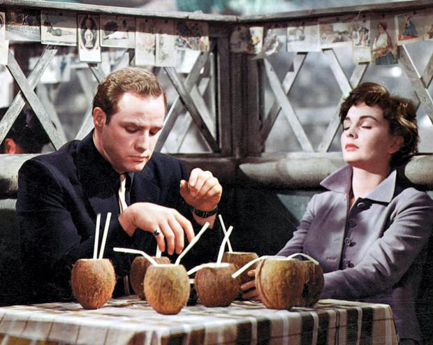 Actress Jean Simmons and Marlon Brando in Guys and Dolls