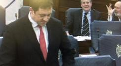 Senator David Norris pulled a nose wave in the Seanad today.