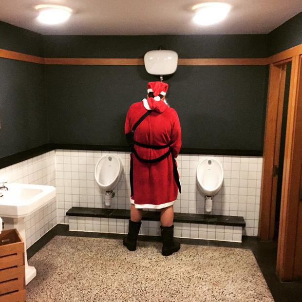 A Santa has already been snapped in a compromising position by Jamie Heislip