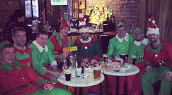 Rob Kearney pictured with his clan of Elves in The Bridge pub