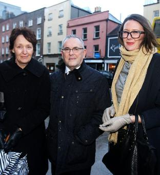 Annette De Vere Hunt, PAC chair John McGuinness and Philip and Annette's daughter Alison. Photo: Tom Burke