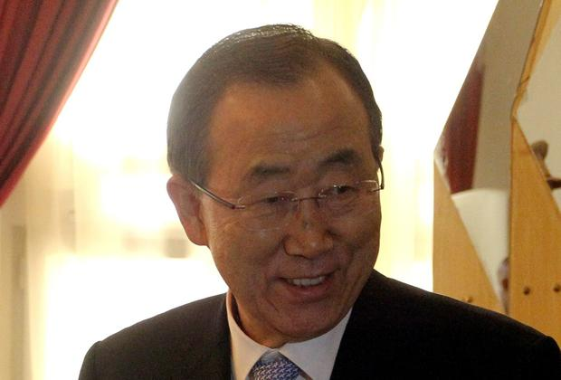 UN Secretary General Ban Ki-Moon. AFP PHOTO / BINANI