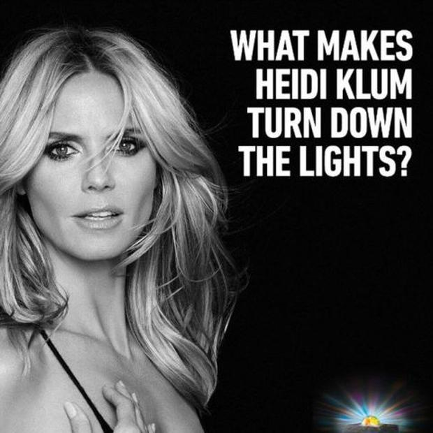 Heidi Klum's Sharper Image campaign has been banned for being too sexy