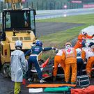 The scene after Jules Bianchi's horror crash