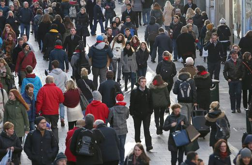 Shoppers on Dublin's Grafton Street. Picture: Damien Eagers
