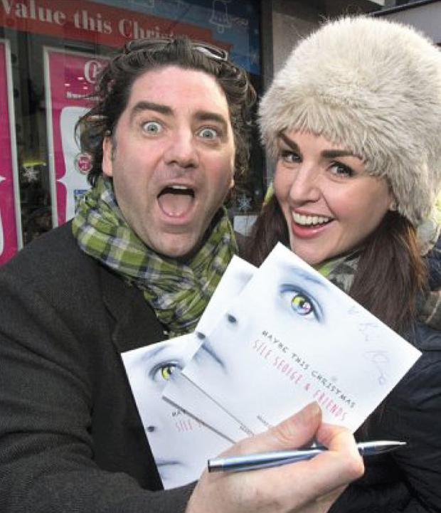 Sile Seoige with singer Brian Kennedy