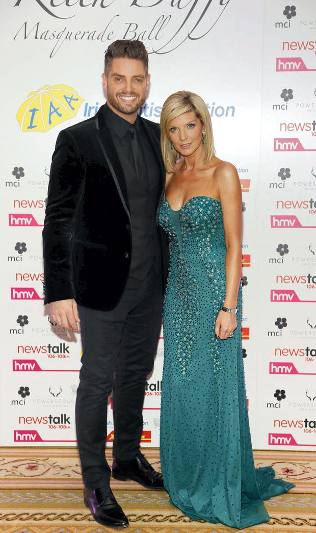 Keith and Lisa Duffy - the Boyzone star supported the reopening of a shop on Thomas Street by his father, Sean