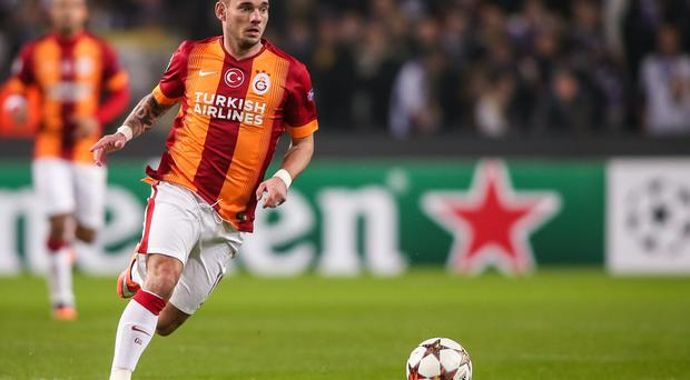 Galatasaray player Wesley Sneijder