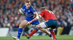 As Ireland coach Joe Schmidt begins considering his fly-half options, Leinster star Ian Madigan will be looking to make an impression by stamping his authority on the derby against Munster at Thomond Park. Photo: Stephen McCarthy / SPORTSFILE