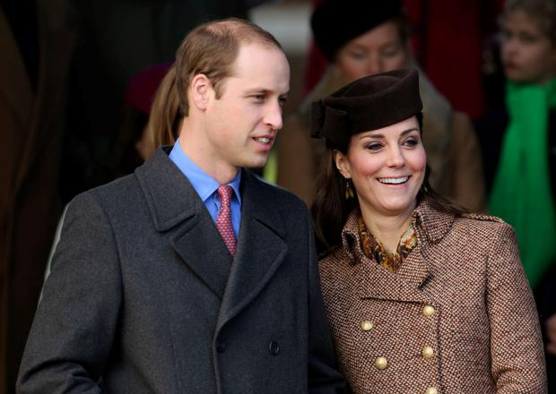 Prince William and Kate join other members of the Royal Family arrive as they attend the Christmas Day service at at St Mary Magdalene Church on the Sandringham estate in Norfolk. Chris Radburn/PA Wire