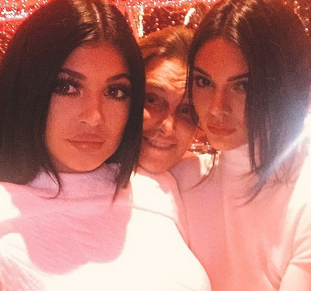 Bruce Jenner with daughters Kylie and Kendall Jenner Pic: Kylie Jenner/Instagram