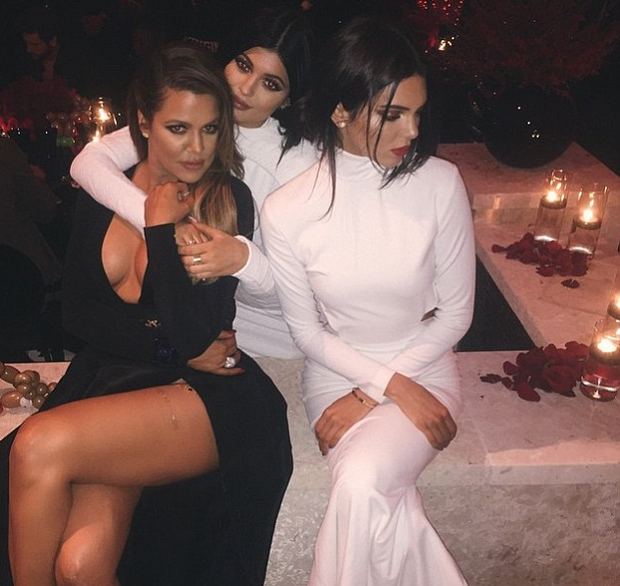 Khloe Kardashian with sisters Kylie and Kendall Jenner Pic: Kylie Jenner/Instagram