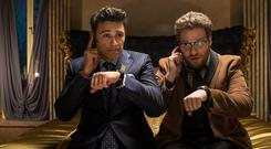 James Franco, left, as Dave and Seth Rogen as Aaron in a scene from Columbia Pictures'