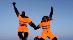 Beyonce charted her Christmas holiday with hubby Jay Z in Iceland on her website Beyonce.com