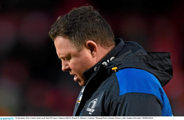 Leinster head coach Matt O'Connor. Guinness PRO12, Round 11, Munster v Leinster. Thomond Park, Limerick. Picture credit: Stephen McCarthy / SPORTSFILE