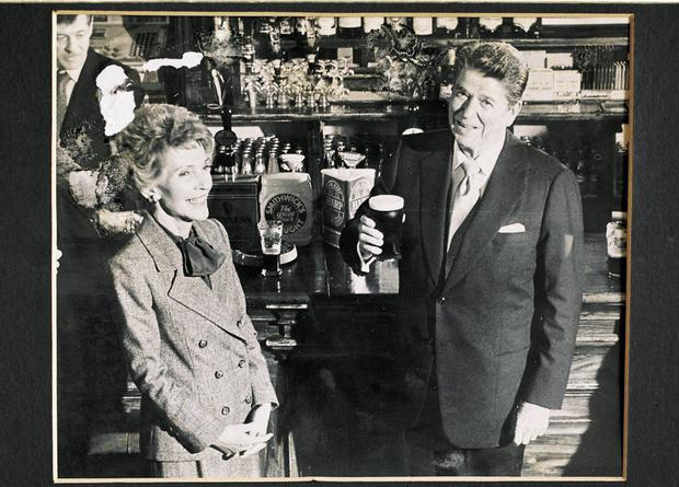 Nancy and Ronald Reagan during their Irish visit in 1984