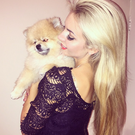 Rosanna Davison and her competitive pomeranian Ted.