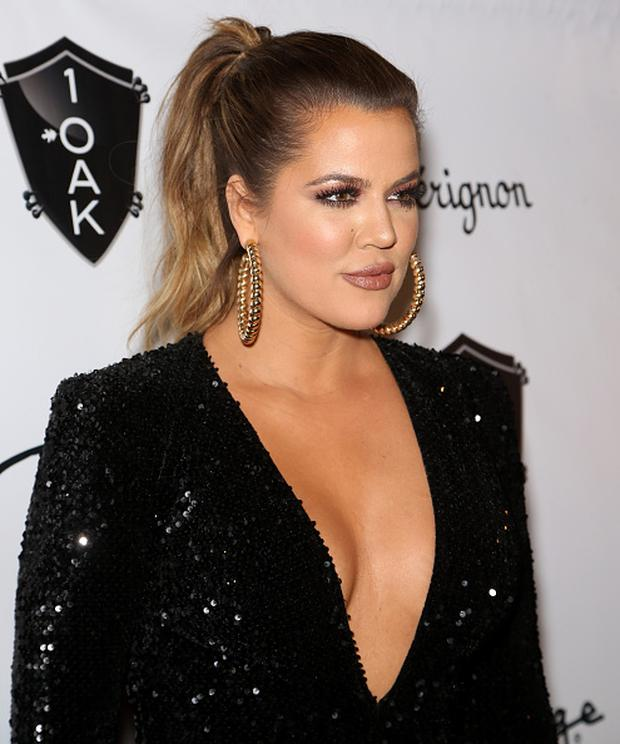 Television personality Khloe Kardashian arrives to host a party at 1 OAK Nightclub at The Mirage Hotel & Casino