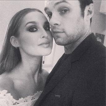 Model Roz Purcell and boyfriend Bressie on New Year's Eve. Picture: Roz Purcell/Instagram