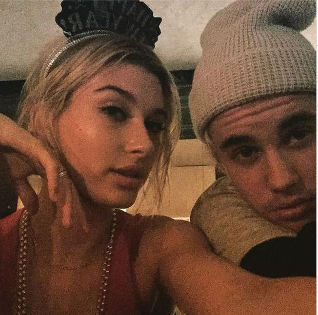 Justin Bieber and Hailey Baldwin on New Year's Eve 2015