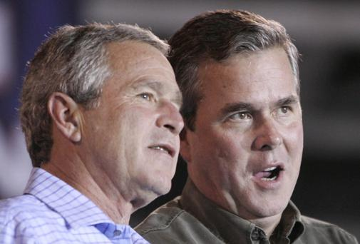 Jeb with former US President George W Bush
