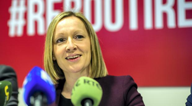 Lucinda Creighton at the Marker Hotel this morning. Photo: Doug O'Connor