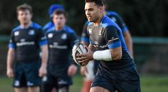 Ben T'eo's return from injury is a boost for Leinster. Photo: Ramsey Cardy / SPORTSFILE