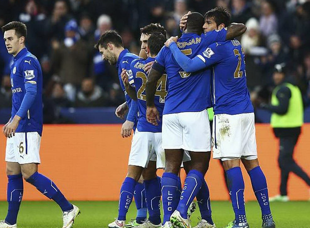 Leicester celebrate victory over Newcastle