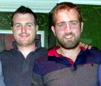 Brothers Barry (L) and Patrick Lyttle from Ballycastle in Northern Ireland