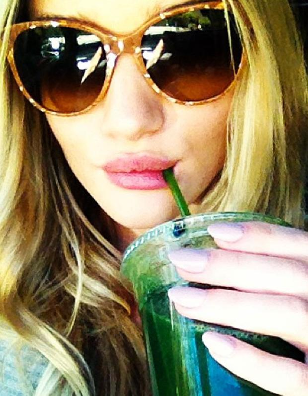 A juice a day keeps the doctor away: Rosie Huntington Whiteley