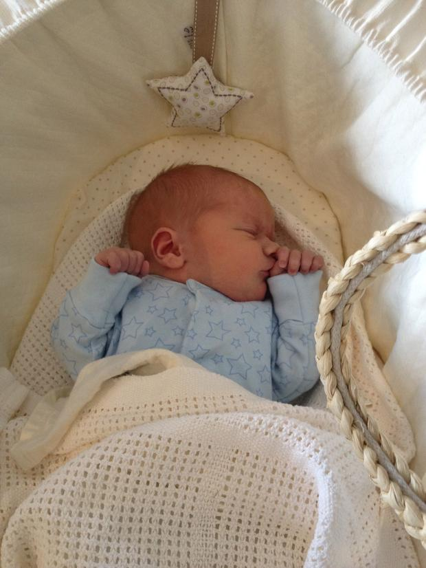 Xpose's Karen Koster's picture of baby Finn McGuire, her first child with husband John McGuire.